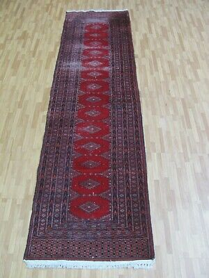 A TERRIFIC OLD HANDMADE PAKISTAN ORIENTAL RUG (230 x 62 cm)
