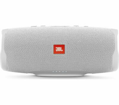 JBL Charge 4 Portable Bluetooth Speaker - White - Currys