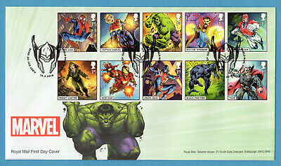 2019 MARVEL COMICS Stamp Set or Mini Sheet FIRST DAY COVERS (choice)