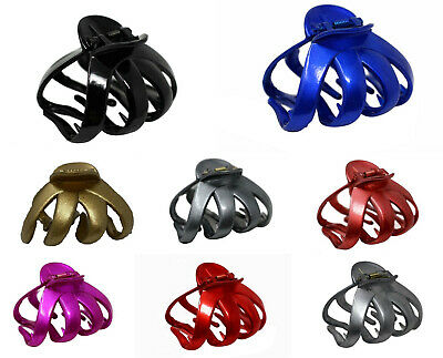 Octopus Plastic Claw Clip Butterfly Bull Dog Design, Large Grip for Thick Hair