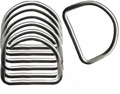 Heavy Duty 6 mm Thick Welded Metal D Rings 50 mm Wide