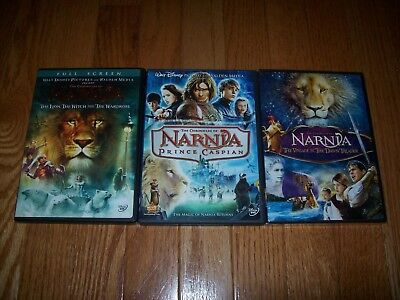 Walt Disney's The Chronicles of Narnia trilogy on DVD. 1, 2 and 3.