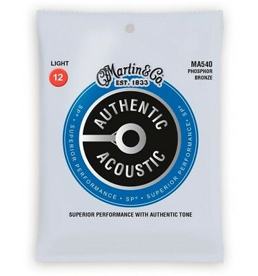 Martin MA540 - Jeu de cordes guitare acoustique - Authentic SP Phosphore bronze