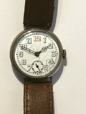 Original WWI Officers Sterling Silver Trench Watch. Quality movement