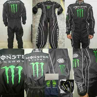 MONSTER EMBROIDERED GO KARTRACING SUIT CIK FIA LEVEL II + shoes+gloves+balaclava