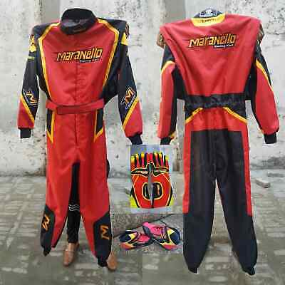 MARANELLO  GO KART RACING SUIT CIK FIA LEVEL II + shoes+gloves+balaclava