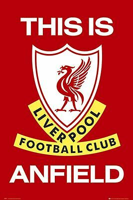 Liverpool FC Poster silk art print This Is Anfield Football Club New
