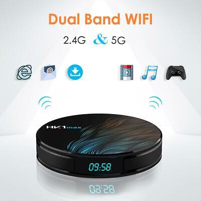 HK1 MAX Android 9.0 4K Smart TV Box 4G+32G RK3328 Quad Core WIFI 3D Media Player