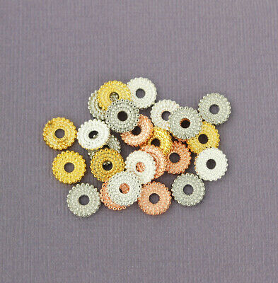 Rose Gold Overlay Chip Bead BRG-216-10MM