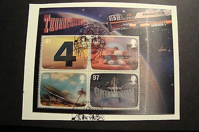 GB 2011 Commemorative Stamps~Thunderbirds M/S~Fine Used Set~S/A~On Piece~UK