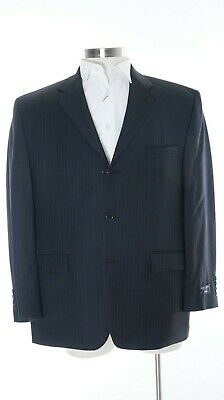 Alfani Classic Fit Black Striped 3 Button Wool & Cashmere Blend Sportcoat 44S