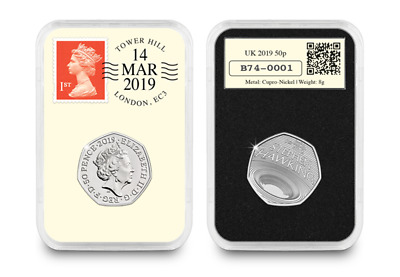 PRE- RELEASE-ORDER: Stephen Hawking Date Stamp 50p Coin Royal Mint 500 only.D/E