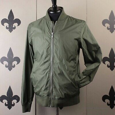 2b8bf4f59 NORSE PROJECTS RYAN Light Ripstop Olive Green Nylon Bomber Jacket ...