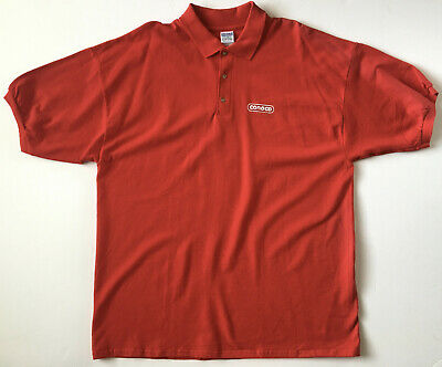 Conoco Gas Station Convenience Store Red Golf Polo Short Sleeve Shirt Men's 2XL