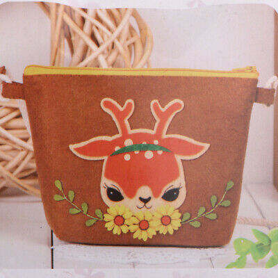 Non-Woven Fabric Coin Purse Change Bag Felt Applique Kits Needlework Crafts