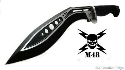 United Cutlery M48 Black Tactical Gurkha Kukri Machete Knife Full Tang W/Sheath