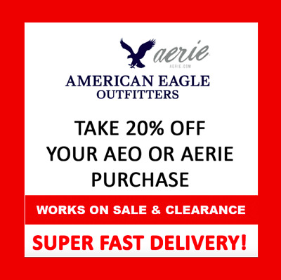 20% OFF American Eagle Outfitters Coupon * WORKS ON CLEARANCE *  Exp 4/10/19