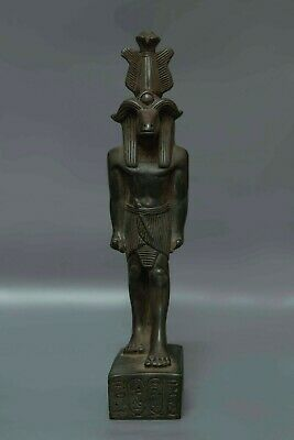 ANCIENT EGYPT EGYPTIAN ANTIQUE Statue HATHOR Goddess Head of COW Carved STONE,BC