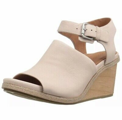 acf8eb7c1ef Gentle Souls 7.5 Kenneth Cole Gerry Wood Wedge Sandals Shoes Blush Tan  Leather