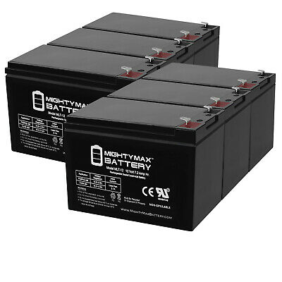 12V 10Ah Scooter Battery Replaces Werker WKA12-10F2 WKA12-10 Mighty Max 3 Pack