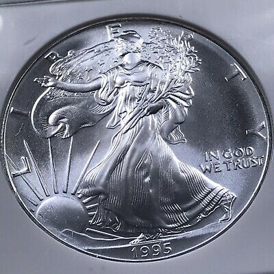 1995 $1 Silver American Eagle NGC MS 69 - 295