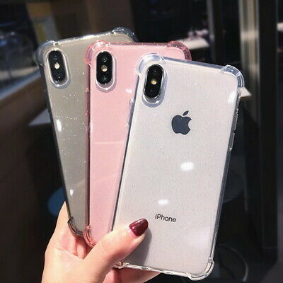 Shockproof Glitter Soft Bumper Rubber Case Cover For iPhone XS Max XR X 8 6s 7+