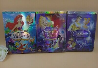 The little Mermaid, Cinderella, and sleeping beauty princess trilogy DVD set