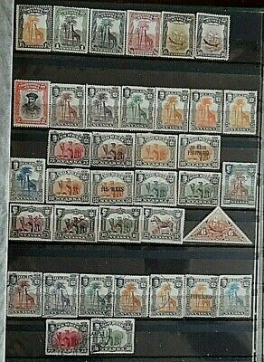 Nyassa Stamp Collection, of Mint Hinged & Used Stamps, 37 Different Stamps