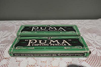 Puma Copying Pencils - Cumberland Pencil Co - Vintage Advertising - 1 & 1/2 Pack