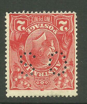 KGV - 2d Red 'OS' *MINT HINGED* WATERMARK INVERTED ACSC 96Ab (CV $125)