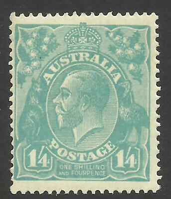 KGV - 1/4 Turquoise-Blue (Single w/m) *MINT HINGED* ACSC 128A (CV $300)