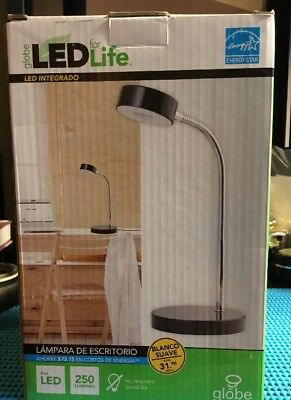 Globe Electric 6W Intergrated LED Gooseneck Desk Lamp NEW