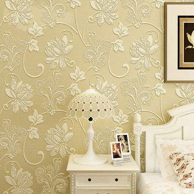 Vintage Floral Wallpaper Roll Non-woven Fabric Wall Paper For Living bed Room
