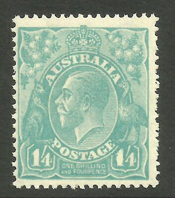 KGV 1/4 Greenish-Blue (SMW p13 1/2) MINT UNHINGED *THICK 1 at RIGHT* (CV $1,750)