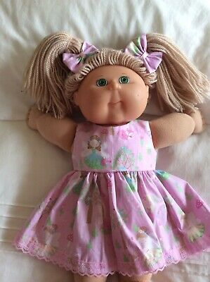 "DOLLS CLOTHES - DRESS & BOWS to fit 16"" CABBAGE PATCH ~ Pink Fairies"