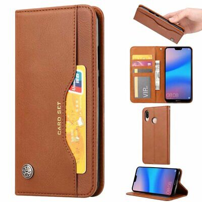 Fits Huawei P Smart 2019/Honor 10 Lite Magnetic Flip Leather Wallet Case Cover
