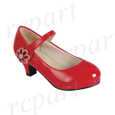 size 40 best sell look out for NEW GIRL'S KIDS formal dress wedding shoes Red rhinestones ...