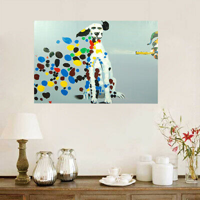 Framed Modern Wall Art Decor 100% Hand Painted Canvas Oil Painting - Dalmatian