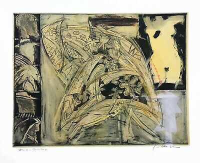 Will Petersen (1928-1994) Mixed media etching collage Beat Generation Artist
