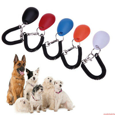 Pet Dog Clicker Training Obedience Sound Key Chain Wrist Strap Adjustable Sound