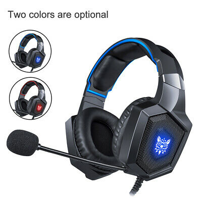 AU_ ONIKUMA K8 Casque Gaming Headset Stereo Headphone with Mic for PS4 Xbox Myst