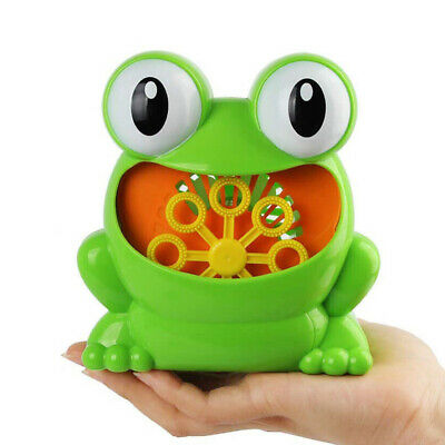 Kid Baby Bubble Tub Frog Automatic Shower Machine Blower Maker Bath Music Toy