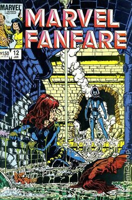 Marvel Fanfare (1st Series) #12 1984 VG Stock Image Low Grade