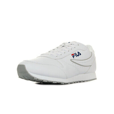 Chaussures Baskets Fila homme Orbit Low taille Blanc Blanche Cuir Lacets