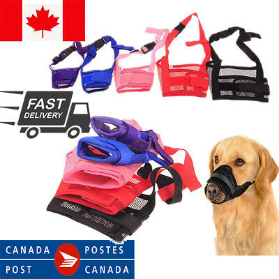 Adjustable Dog Pet Mask Bite Bark Mesh Mouth Muzzle Grooming Anti -Stop Chewing