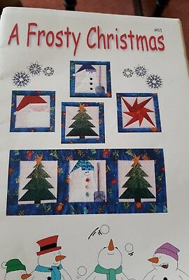 Frosty Christmas Paper Pieced Quilt Pattern