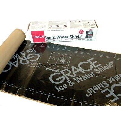 36 in. x 75 ft. Roofing Underlayment Ice Water Leak Barrier Black 225 sq ft Roll