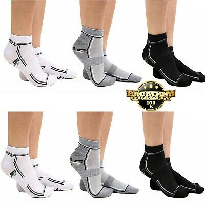 6 Pairs Mens Trainer Liner Ankle Socks Gym Cotton New Designs Adults Sports 6-11