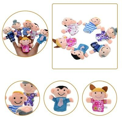 6pcs/set Kids Baby Plush Doll Learn Story Family Finger Puppets Educational Toys
