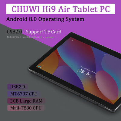 CHUWI Tablet PC Hi9 Air 10.1 pollici 4G LTE 2SIM Android 8.0 Dieci core 4GB+64GB